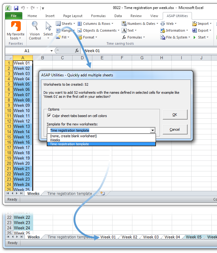 Asap Utilities For Excel Blog Tip Quickly Insert Multiple. Insert Multiple Sheets Uses The Cell Values As Sheet Names. Worksheet. Vba Reference Worksheet By Cell Value At Mspartners.co