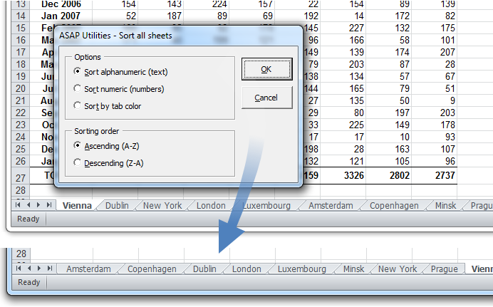 ASAP Utilities for Excel \u2013 Blog \u00bb Tip: Quickly sort your sheets by their value or tabcolor