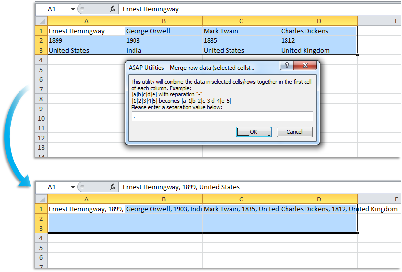 ASAP Utilities for Excel – Blog » Tip: Easy ways to combine the