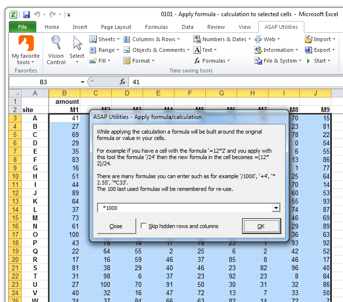 ASAP Utilities for Excel – Blog » Tip: Quickly perform a