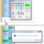 Count and optionally color duplicated values