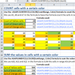 COUNT or SUM cells with a certain color