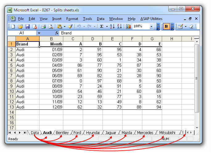 ASAP Utilities for Excel – Blog » An easy way to split sheets
