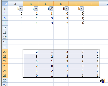 Excel 2007, copy filtered cells only not working as expected