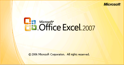 Excel 2007 Splash Screen