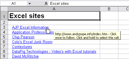 Extract hyperlinks