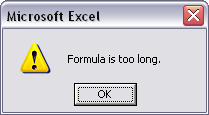 Formula is too long