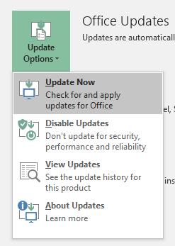 Update Excel