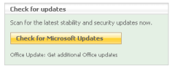 Check for Microsoft Updates