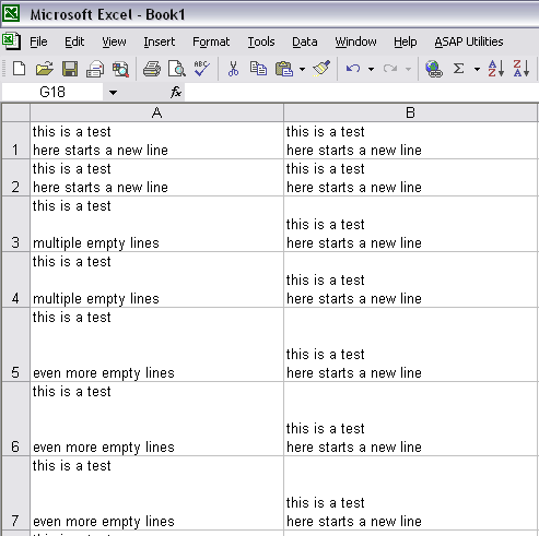 How to write multiple lines in excel cell
