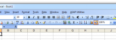 The menu of Excel 2003, Excel 2002 and Excel 2000