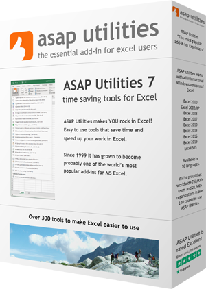 Sit down and relax, while ASAP Utilities does the rest!