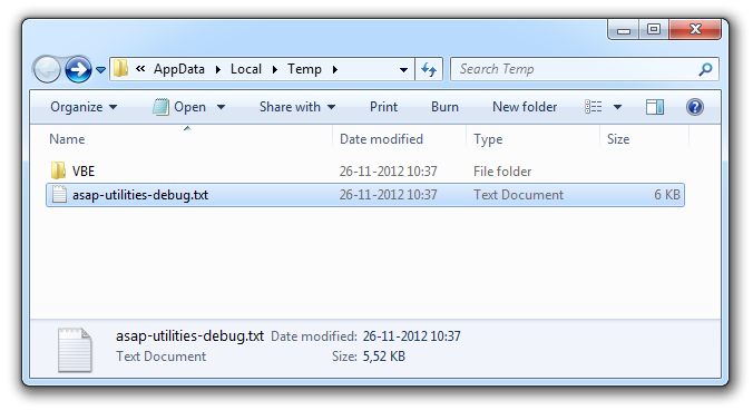 The file 'asap-utilities-debug.txt' contains important information for us