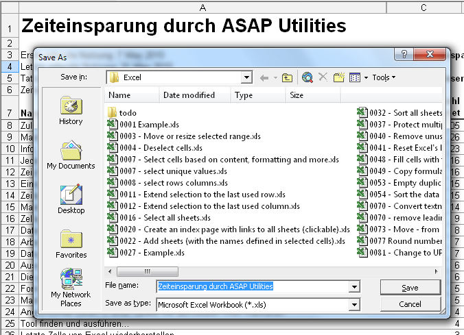 Asap Utilities For Excel Datei Amp System 187 Datei