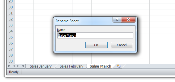 Sheets » Rename current sheet...