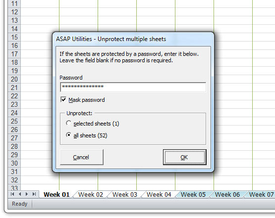 how to remove protection using unprotect sheet command in excel 2010