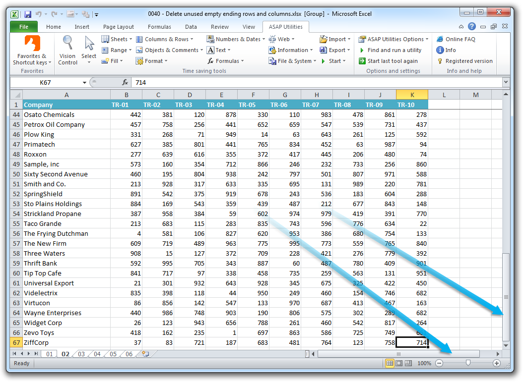 Asap Utilities For Excel Columnas Y Filas 187 Eliminar