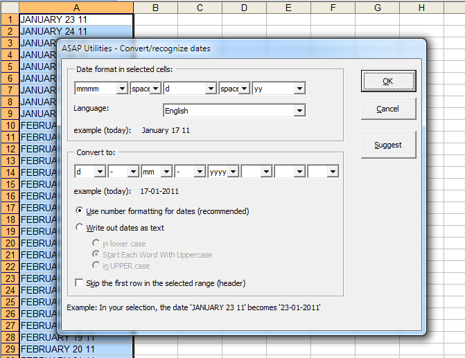 ASAP Utilities Excel add in free MS Excel software tools