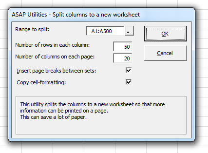Format » The paper saver (split columns)...