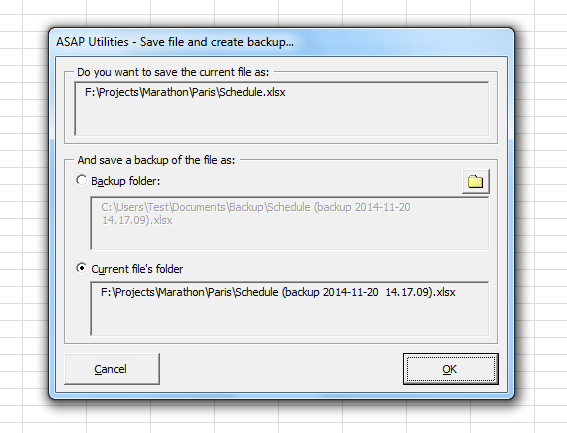 Save the file and create a backup copy