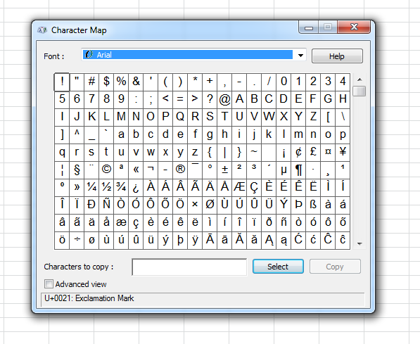Start » Special Characters