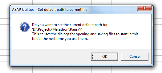 File & System » Set default path to current file