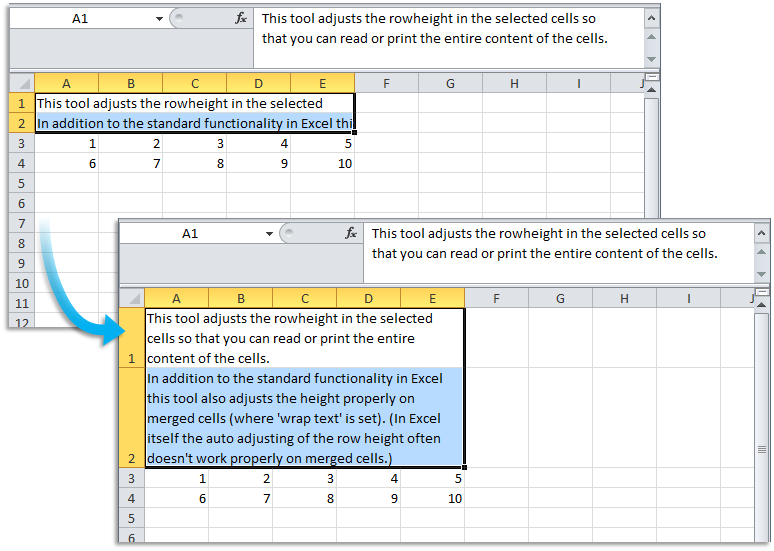 Asap Utilities For Excel Columns Amp Rows 187 Autofit Row