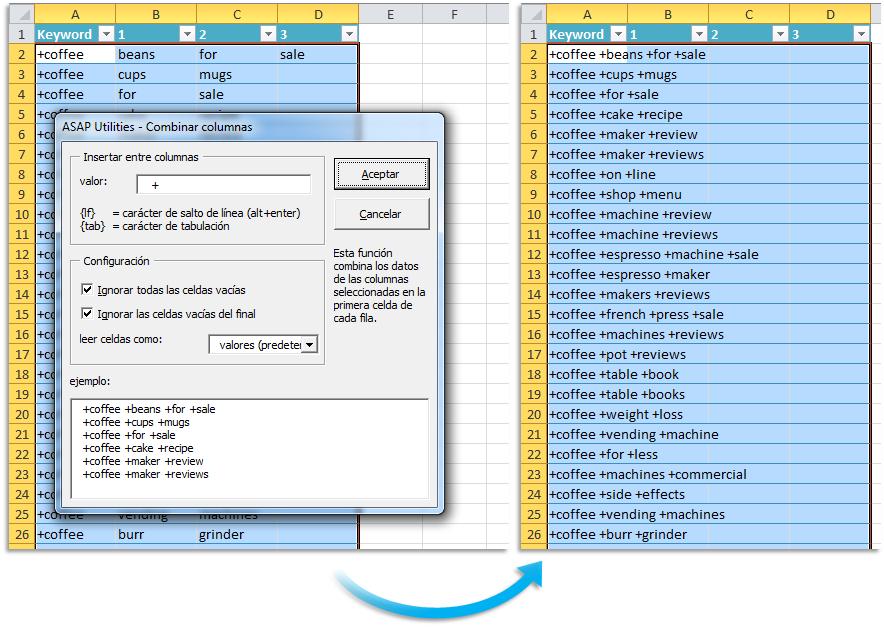 Asap Utilities For Excel Columnas Y Filas 187 Combinar