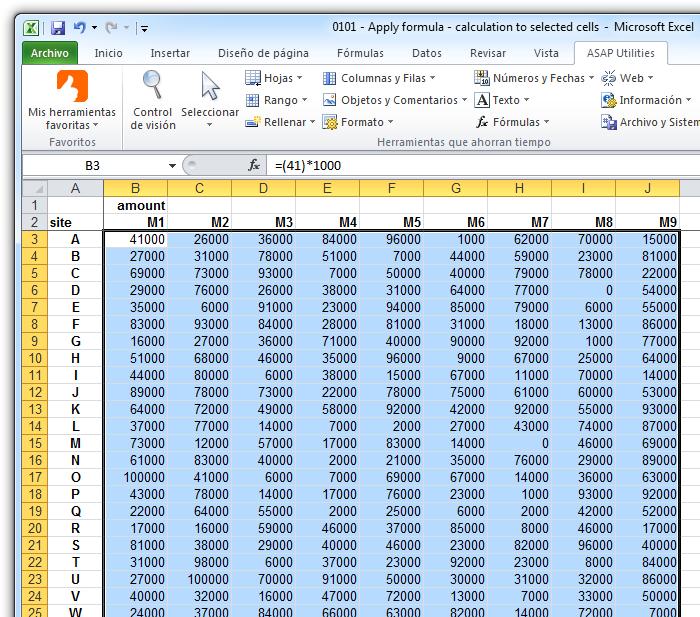 Asap Utilities For Excel N 250 Meros Y Fechas 187 Aplicar Una