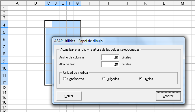 Asap Utilities For Excel Columnas Y Filas 187 Papel De
