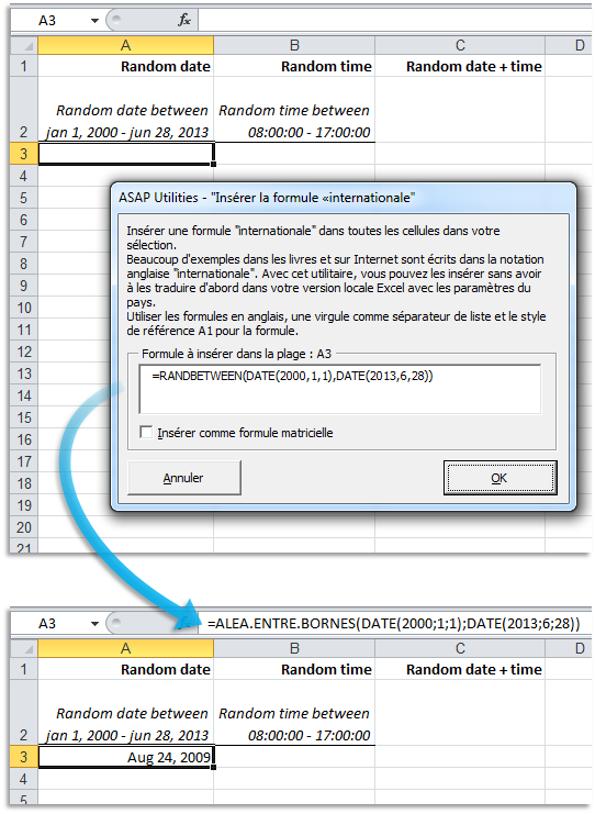 Easily paste English formulas into your French Excel version