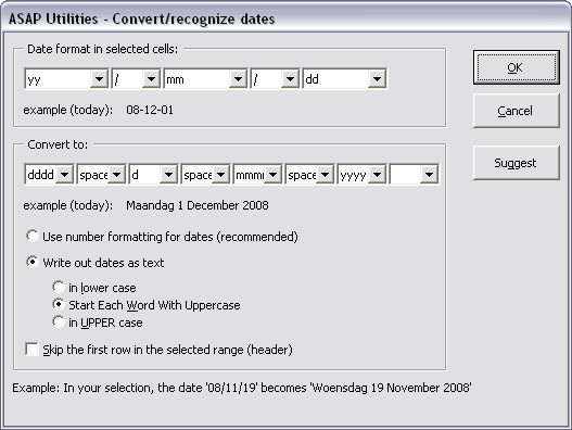 Convert/recognize dates...