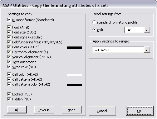Copy and apply cell's formatting settings...