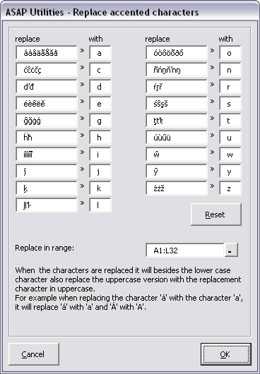 Replace accented characters (á, ë, ñ etc.)...