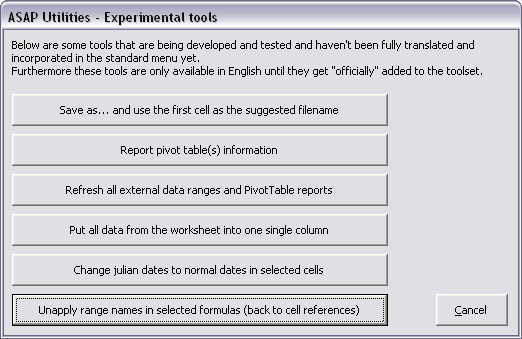Unapply range names in selected formulas (back to cell references)