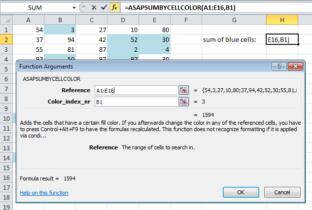 In Excel 2010 the function arguments now have a description too
