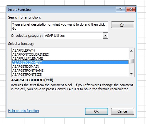 The functions from ASAP Utilities are now listed in their own group in Excel 2007 and 2010