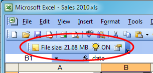 The file size toolbar - a quick way to see how large your files are