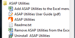 ASAP Utilities in the Windows Start menu