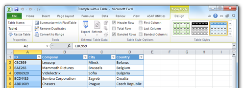 Speed improvement for editing data in Tables in Excel 2010 and Excel 2013