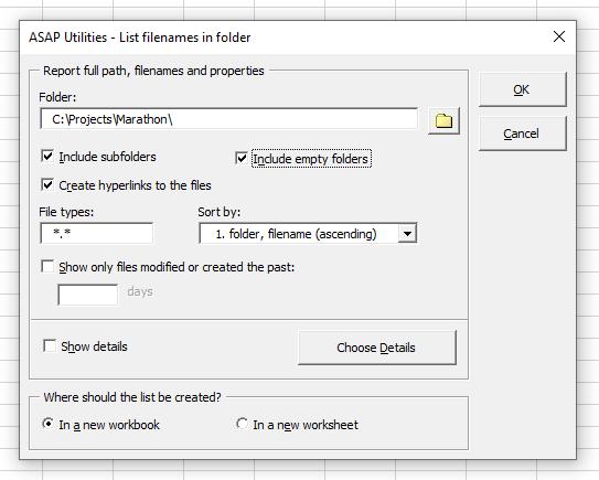 Include empty folders