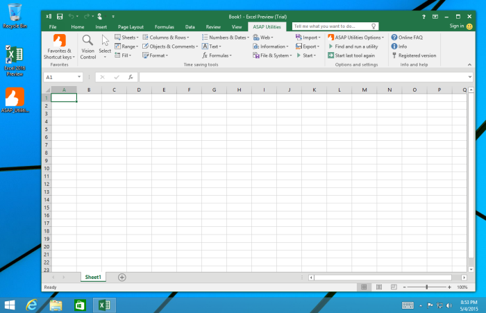 Office 365 Excel 2016 Opening to a blank screen but has