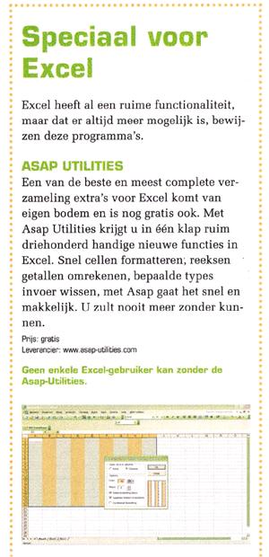 PCM: Geen enkele Excel gebruiker kan zonder ASAP Utilities