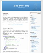 asap excel blog weblog