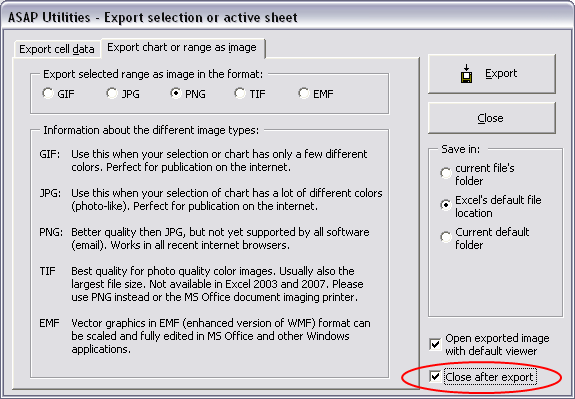 Export selected chart or range as image (file)...