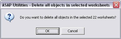 Delete all objects in selected worksheets
