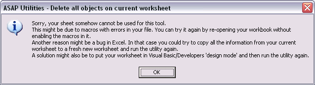 Automation error, your sheet cannot be used for this tool