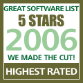 ASAP Utilities was rated 5 stars on The Great Software List