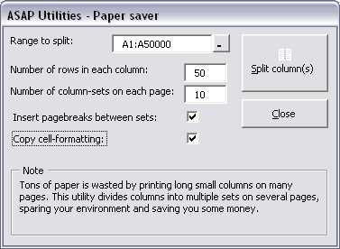 New paper saver - Copy cell formatting