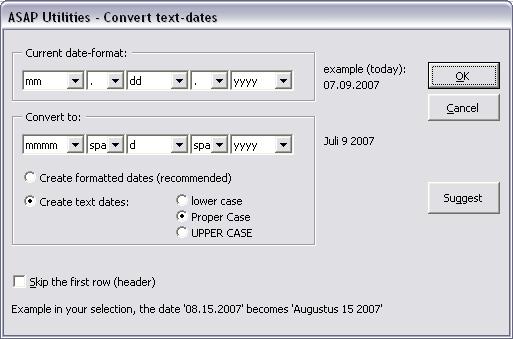 Text » Convert dates...